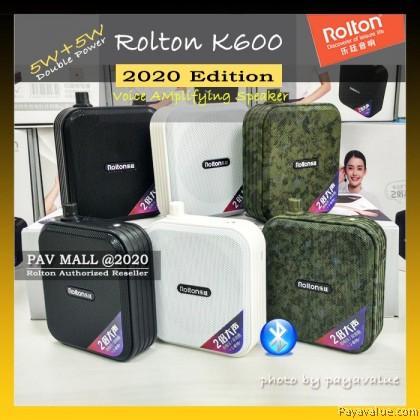 Ready Stock Rolton K600 (Double Power) Voice Amplifier Speaker Loud Microphone Bluetooth 5W+5W Pembesar Suara Kuat