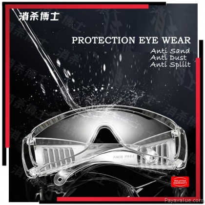 Ready Stock   Professional Protection Eye Wear Goggles Anti Sand Dust Splash Saliva Shield Safety Guard Specticles