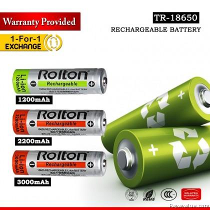 Ready StockOriginal Rolton Ultra Size Battery 2200mAh 3000mAh Safely Charging 3.7V Rechargeable Li-Ion Batt