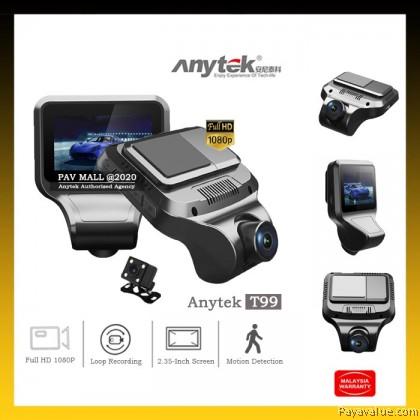 "New  Anytek T99 2.35"" IPS Car Dash Cam Single/Dual Mode Recording Motion Detection G-Sensor Auto-Loop Dashboard Camera"