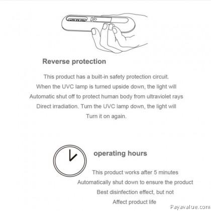 Portable UV Light Sterilizer UV Sanitizer Lamp USB Handheld Ultrlet Disinfection Ultravioaviolet Sterilization
