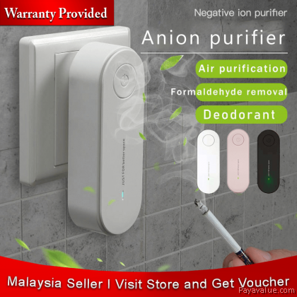 Wall Plug-in PM2.5 Negative Ion Air Purifier Anion Air Purifier Remove Odor Smoke Removal Deodorization