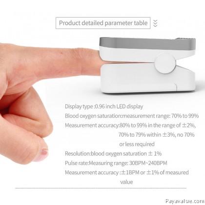 CE FDA Fingertip Oximeter Finger Pulse Oximetry Monitor Respiratory Rate Heart Rate Monitor